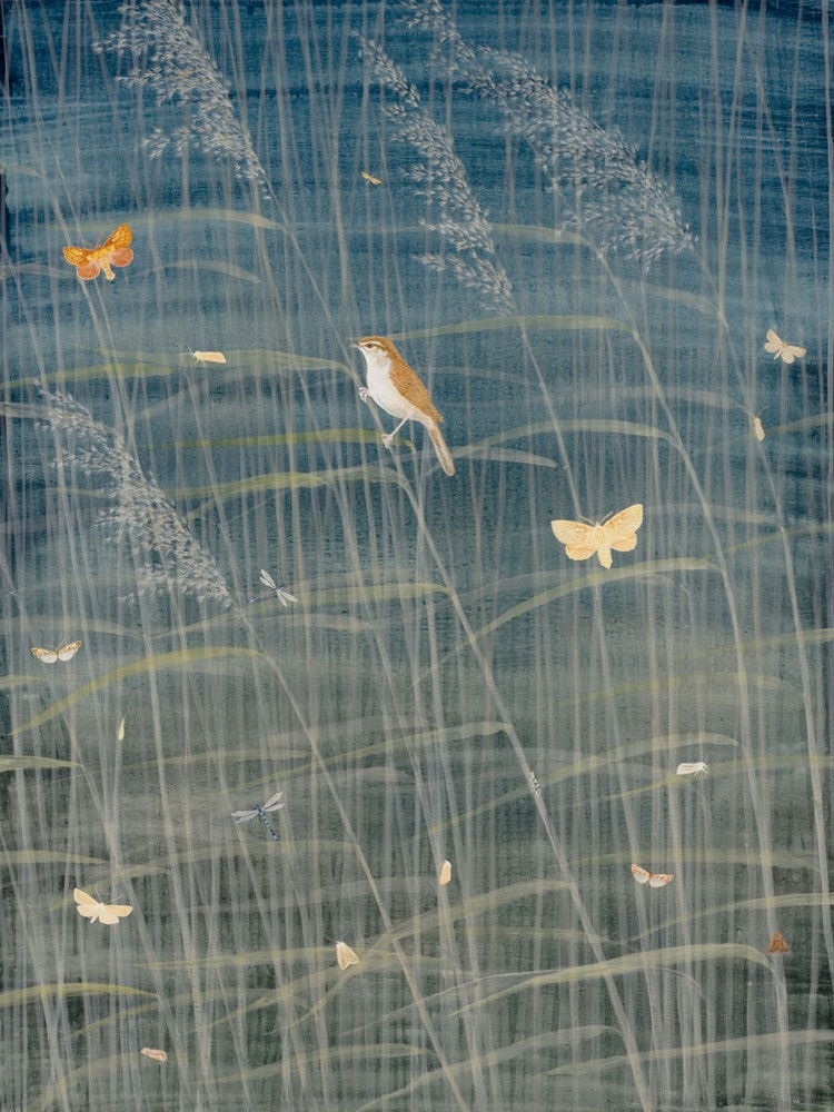 Minsmere Reedbed by Lil Tudor-Craig. Environmental Artist,  Lampeter Wales