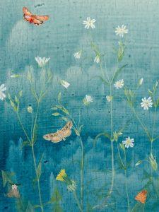 Dandelion, detail: Ruby Tiger by Lil Tudor-Craig. Environmental Artist, Lampeter Wales