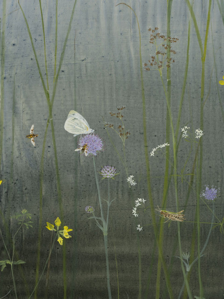 The Edge of the Marsh, detail: Green-veined White by Lil Tudor-Craig. Environmental Artist in Lampeter Wales