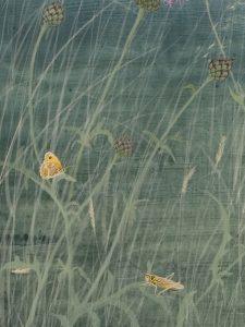 Lincolnshire Meadow, detail: Gatekeeper by Lil Tudor-Craig. Environmental Artist, Lampeter Wales
