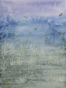 Meadow at Butley by Lil Tudor-Craig. Environmental Artist, Lampeter Wales