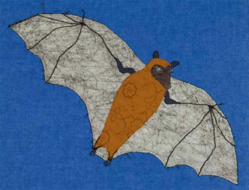 Bat by Lil Tudor-Craig. Environmental Artist, Lampeter Wales