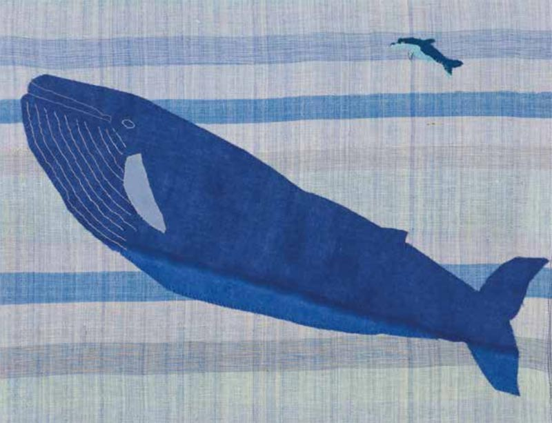 Blue Whale by Lil Tudor-Craig. Environmental Artist, Lampeter Wales