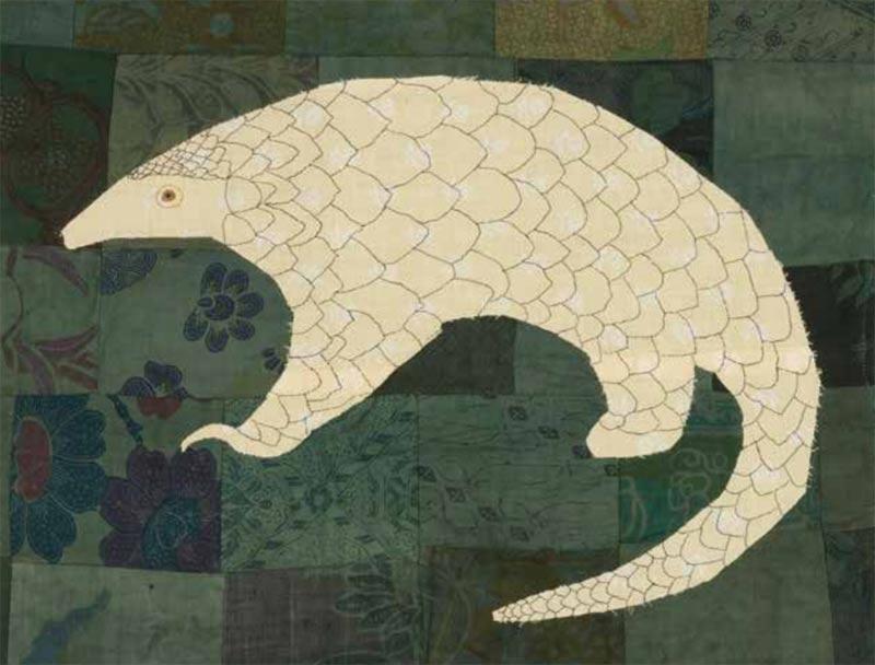 Pangolin by Lil Tudor-Craig. Environmental Artist, Lampeter Wales