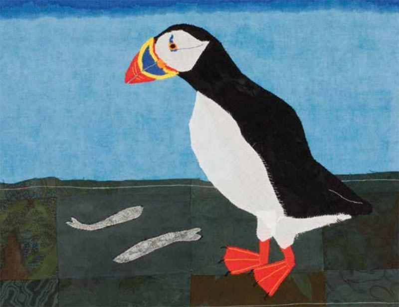Puffin by Lil Tudor-Craig. Environmental Artist, Lampeter Wales