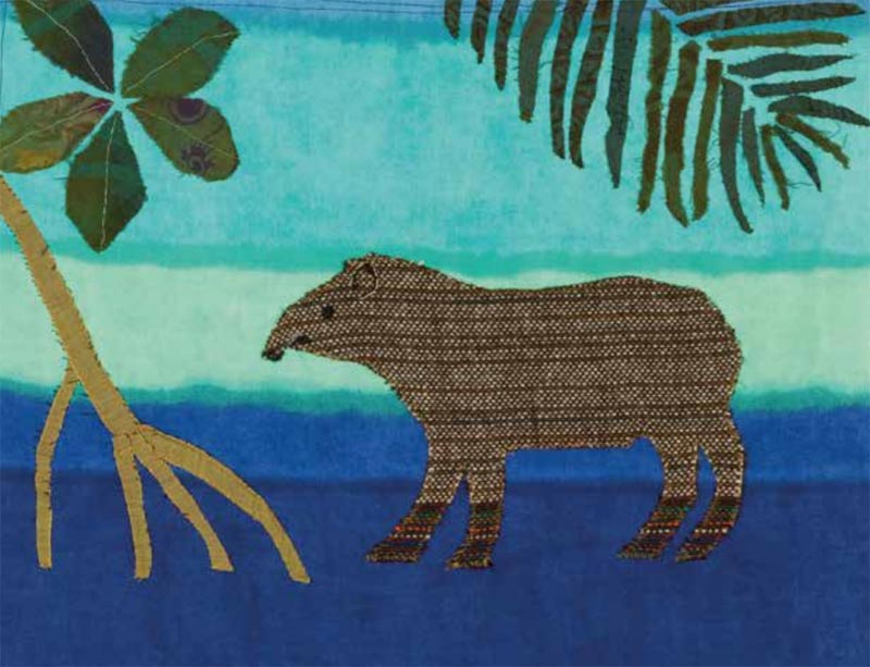 Tapir by Lil Tudor-Craig. Environmental Artist, Lampeter Wales
